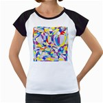 Fractured Facade Women s Cap Sleeve T-Shirt (White)