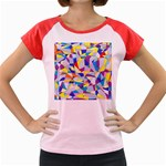 Fractured Facade Women s Cap Sleeve T-Shirt (Colored)