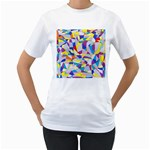 Fractured Facade Women s Two-sided T-shirt (White)