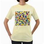 Fractured Facade Women s T-shirt (Yellow)