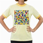 Fractured Facade Women s Ringer T-shirt (Colored)