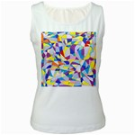 Fractured Facade Women s Tank Top (White)