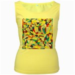Fractured Facade Women s Tank Top (Yellow)