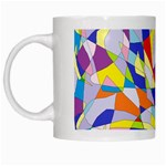 Fractured Facade White Coffee Mug
