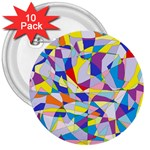 Fractured Facade 3  Button (10 pack)