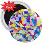 Fractured Facade 3  Button Magnet (10 pack)