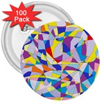 Fractured Facade 3  Button (100 pack)