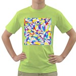 Fractured Facade Men s T-shirt (Green)