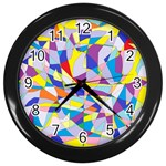 Fractured Facade Wall Clock (Black)