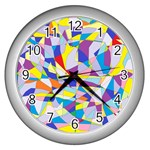 Fractured Facade Wall Clock (Silver)