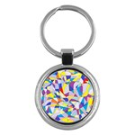 Fractured Facade Key Chain (Round)
