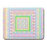 Layered Pastels Small Mouse Pad (Rectangle)