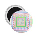 Layered Pastels 2.25  Button Magnet