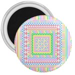 Layered Pastels 3  Button Magnet