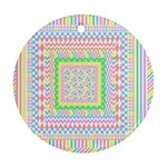 Layered Pastels Round Ornament