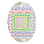 Layered Pastels Oval Ornament