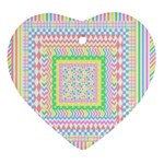 Layered Pastels Heart Ornament