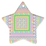 Layered Pastels Star Ornament