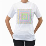 Layered Pastels Women s Two-sided T-shirt (White)