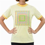 Layered Pastels Women s Ringer T-shirt (Colored)