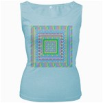Layered Pastels Women s Tank Top (Baby Blue)