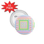 Layered Pastels 1.75  Button (10 pack)