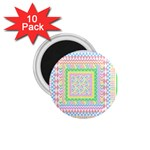 Layered Pastels 1.75  Button Magnet (10 pack)