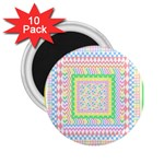 Layered Pastels 2.25  Button Magnet (10 pack)