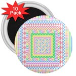 Layered Pastels 3  Button Magnet (10 pack)