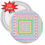 Layered Pastels 3  Button (100 pack)