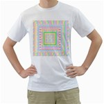 Layered Pastels Men s Two-sided T-shirt (White)