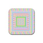 Layered Pastels Drink Coasters 4 Pack (Square)