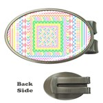 Layered Pastels Money Clip (Oval)
