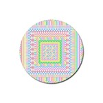 Layered Pastels Drink Coaster (Round)