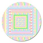 Layered Pastels Magnet 5  (Round)