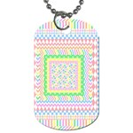 Layered Pastels Dog Tag (One Sided)