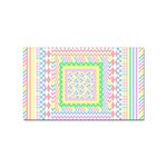 Layered Pastels Sticker 100 Pack (Rectangle)