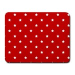 White Stars On Red Small Mouse Pad (Rectangle)