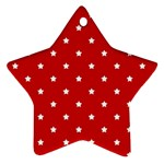 White Stars On Red Star Ornament