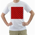 White Stars On Red Men s Two-sided T-shirt (White)