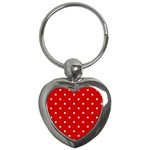 White Stars On Red Key Chain (Heart)