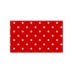 White Stars On Red Sticker (Rectangle)