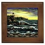 Cosgriff Point Lighthouse -AveHurley ArtRevu.com- Framed Tile