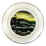 Cosgriff Point Lighthouse -AveHurley ArtRevu.com- Porcelain Plate