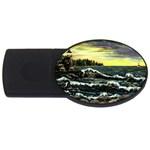 Cosgriff Point Lighthouse -AveHurley ArtRevu.com- USB Flash Drive Oval (4 GB)