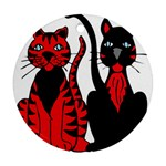 Cool Cats Round Ornament