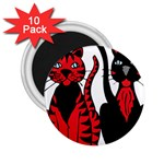 Cool Cats 2.25  Button Magnet (10 pack)
