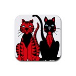 Cool Cats Drink Coasters 4 Pack (Square)