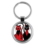 Cool Cats Key Chain (Round)