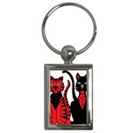 Cool Cats Key Chain (Rectangle)